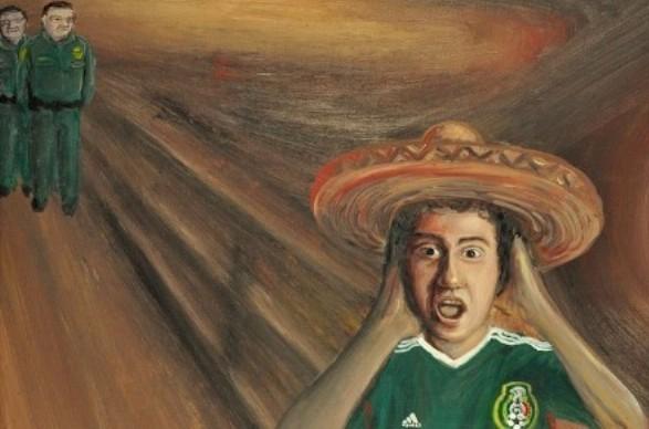 La Migra by Jose Flores, Courtesy of Gallery Azul
