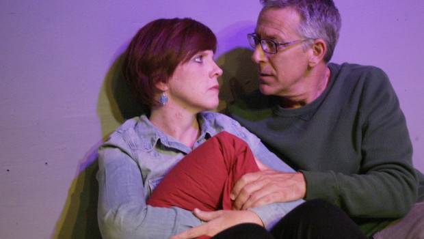 Karen Harrison and Richard Perloff in Donald Margulies' Time Stands Still, directed by Patrick Vest.  Runs through Sept. 6 at Little Fish Theatre.  Photo by Mickey Elliot