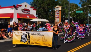 Ballet Folklorico Alma de Oro represented Carson at the Veteran's Day Parade, Nov. 11, in Long Beach. Photo by Diana Lejins