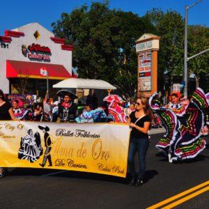 Ballet Folklorico Alma de Oro represented Carson at the Veteran's Day Parade, Nov. 11, in Long Beach. Photo by Diana Lejins