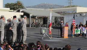 Leland Street Elementary's military children were honored April 15. Photos by Ivan Adame