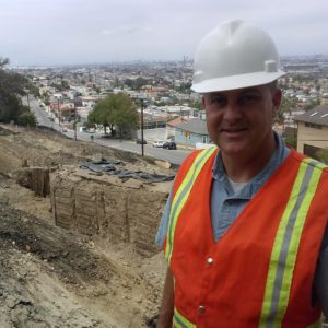 Ft. MacArthur Executive Director, Steve Nelson at the Gaffey Street Pool renovation site.