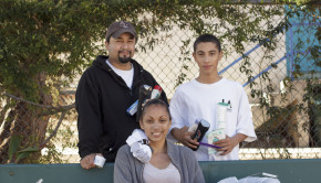 Nora Vela, Fernando Escobedo (Top Left), and Nora's son, Augustine.