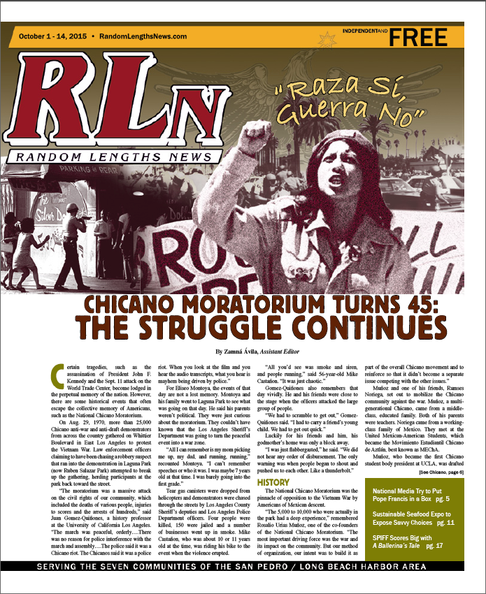 October 1 2015 Random Lengths News cover