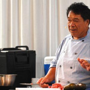 Chef Sam Choy. Photo courtesy of Cabrillo Marine Aqurium