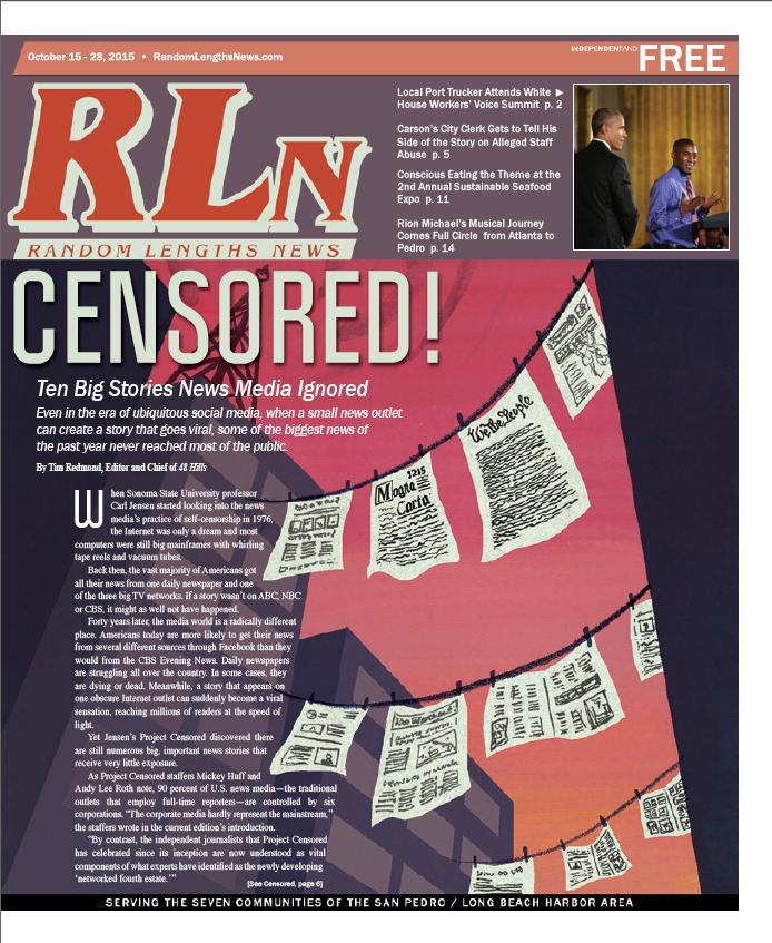 October 15 2015 Random Lengths News cover