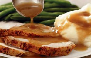 gravy, turkey, mash potatoes