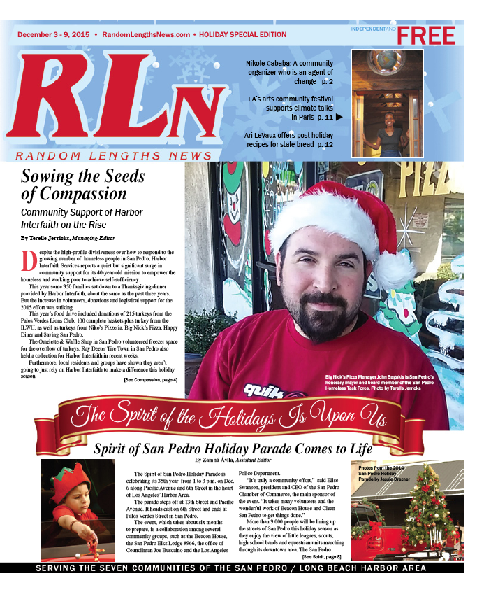 December 3 2015 Random Lengths News cover