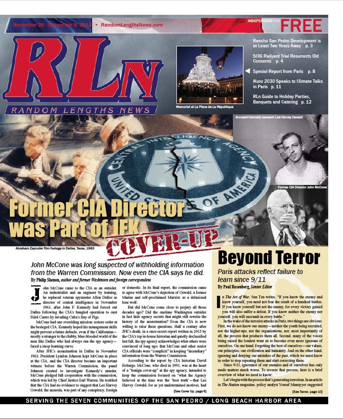 November 26 2015 Random Lengths News cover