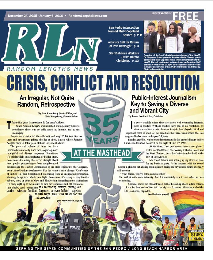 December 24, 2015 Random Lengths News cover