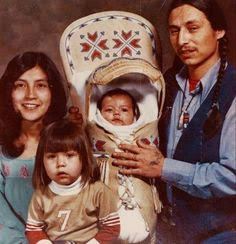 John Trudell and family