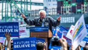 Sen. Bernie Sanders at LA Maritime Museum, May 27, 2016