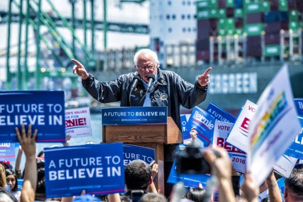 Sen. Bernie Sanders at LA Maritime Museum, May 27, 2016