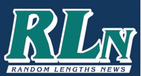 Random Lengths News Logo with blue background