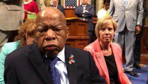 John Lewis, Janice Hahn, Sit-in, Gun Violence