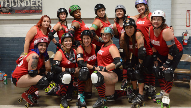 Fans cheered their favorite teams at the bout between the Redondo Riots and the Hermosa Hitgirls, Sept. 9 at the Longshore Memorial Hall in Wilmington. Photo by Linnea Stephan