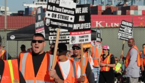 Port Truckers strike