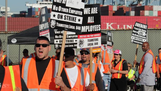 Port Truckers strike