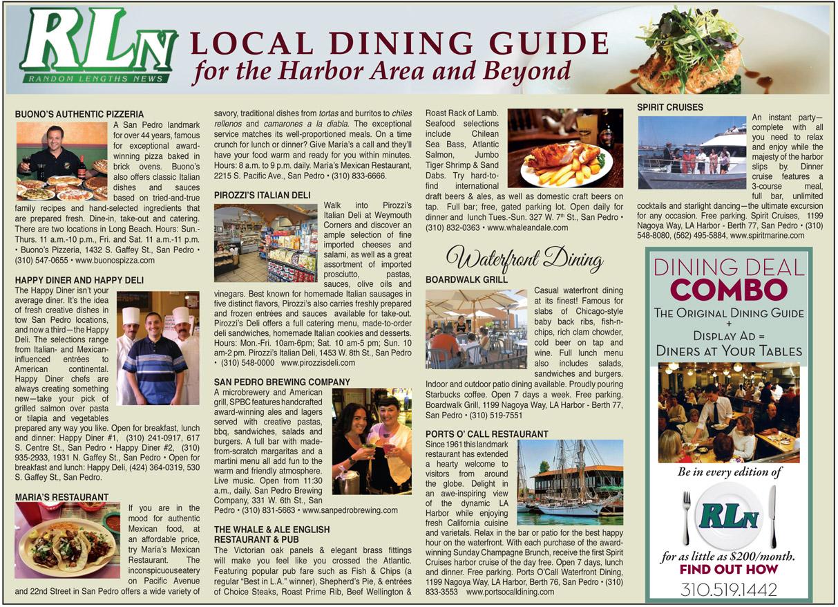 Dining guide random lengths news for Restaurant guide