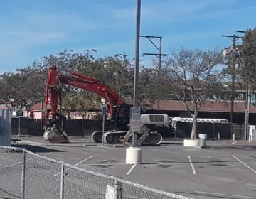 The bulldozers have finally reached Ports O' Call Restaurant following their eviction.