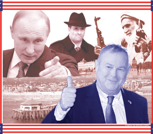 Dana Rohrabacher's love affair with Putin, the Taliban and other terrorists.