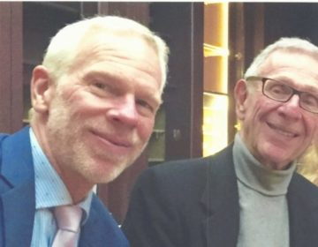 Pictured together are son and father coronary care pioneers, Dr. Michael Wyman and and Dr. Milton Wyman. File photo