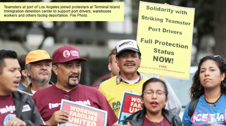 Port Workers Fight for Union, Immigrant Rights - Random