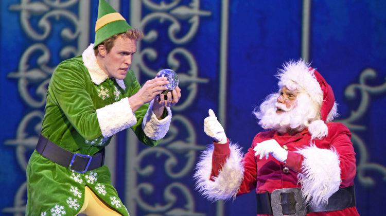 MATT OWEN and Bryan Dobson in Musical Theatre West's Production of Elf. Nov. 30 - Dec. 9, 2018. Carpenter Center for the Performing Arts.