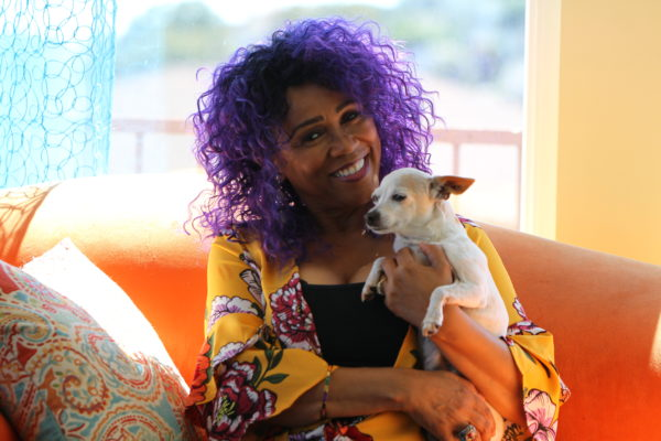Windy Barnes-Farrell and her dog Chibby.