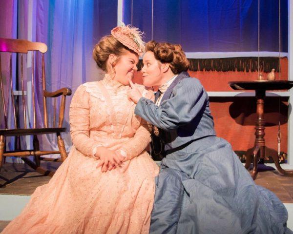Amber Hill as MARGARET LEAVITT and Loren Bowen as HENRIETTA LEAVITT in Silent Sky at Long Beach Playhouse.
