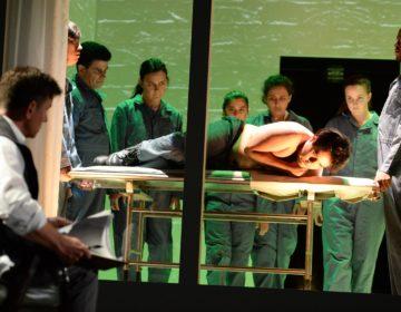 "Long Beach Opera productionof Kafka's ""Penal Colony"" finished on May 5. Credit Keith Ian Polakoff"